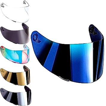 Visera Agv K3 sv K1 K5 K5s s4-sv Horizon Skyline Stealth Numo Casco Todos Los Tamaños Pantella No Original Aftermarket (Iridium Blu)