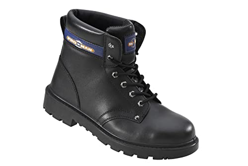d476cb8d1406 Pro Man PM4002 S3 Black Leather Steel Toe Cap Safety Boots Work ...