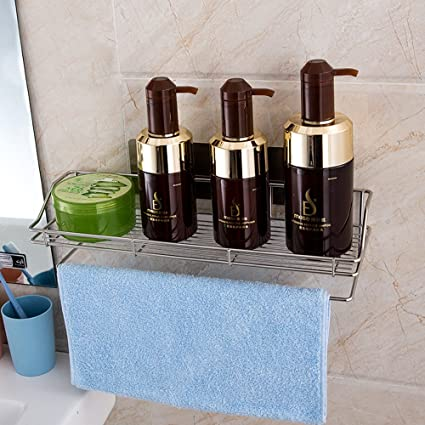 HEBE Bathroom Shelf Shower Caddy Self Adhesive Rustproof Stainless ...