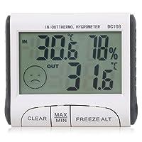 TRIXES Thermomètre et Hygromètre LCD Numérique Intérieur Extérieur pour Serre/Habitation