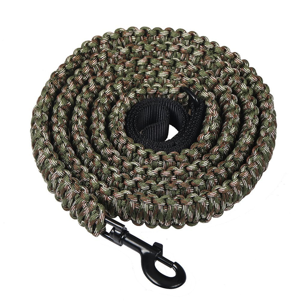 Lifeunion Handmade 550 Paracord Dog Leashes, 6 Feet Heavy Duty Braided Rope Pet Leash Big Breed Dog Supplies (Forest Camo)