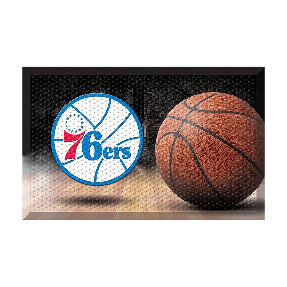 FANMATS 19108 Team Color 19'' x 30'' Philadelphia 76ers Scraper Mat (NBA Ball)