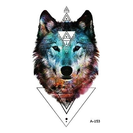 wyuen 5 hojas impermeable tatuajes temporales adhesivo de lobo ...