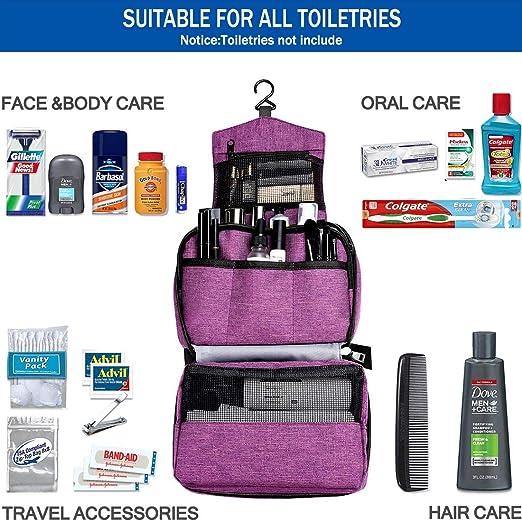 93116908e6db Ceephouge Hanging Travle Toiletry Bag, Compact Bathroom Toiletries  Organizer Travel Case Folding...