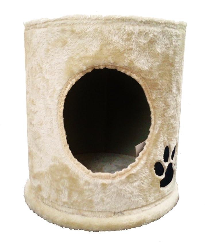 賢明な市民権モスクタンスのゲン キャットタワー 190cm 据え置き 支柱4本 猫タワー 置き型 爪研ぎ 麻紐 ファブリック ブラウン 40900002 01 【60838】