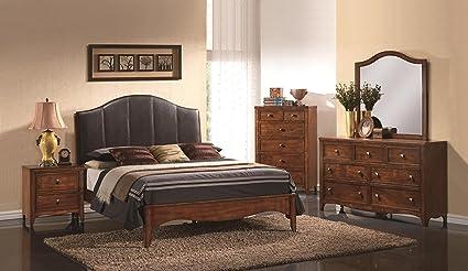 Simple Leather Bedroom Set Decor