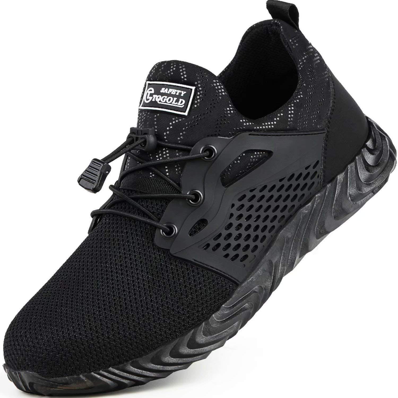 TQGOLD/® Sicherheitsschuhe S3 Herren Damen Arbeitsschuhe Leicht Sportlich Sneaker Schutzschuhe mit Stahlkappe