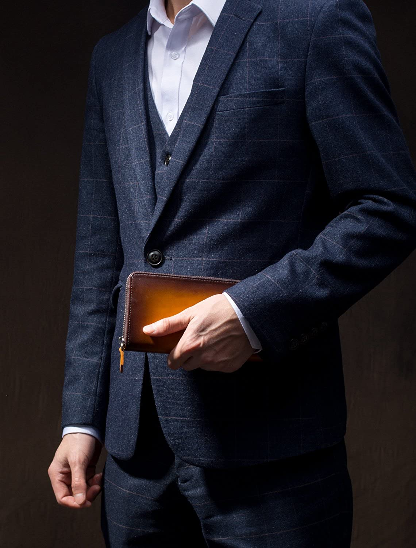 45ba0865dea3 (ポヨリー) POYOLEE 財布 メンズ 長財布 本革 ラウンドファスナー 大容量 人気 B078T5WGT3 タバコイエロー -財布