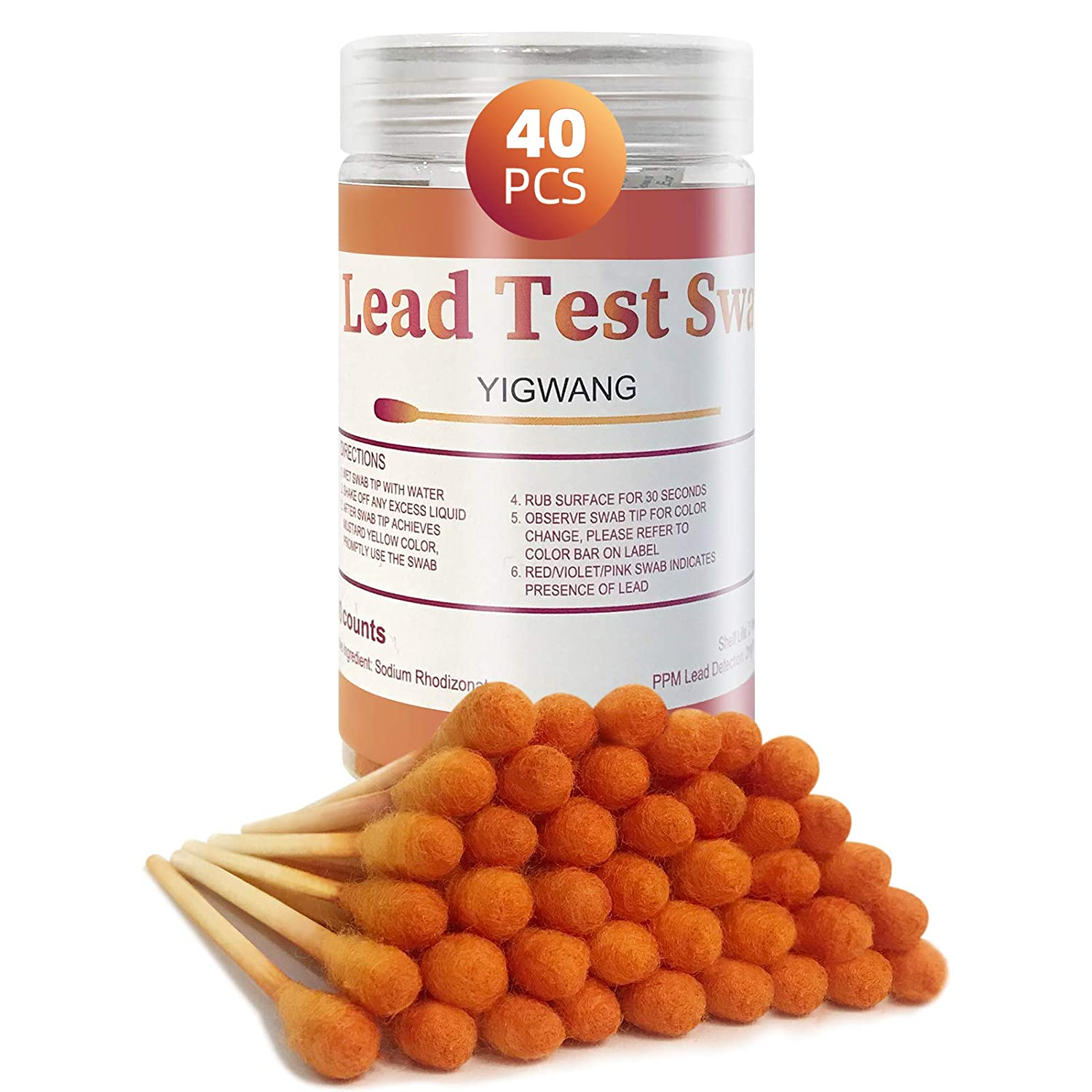 YIGWANG 40 pcs Lead Paint Test Kit, Professional Lead Testing kit for Home, Get Precise Result Within 30 Seconds