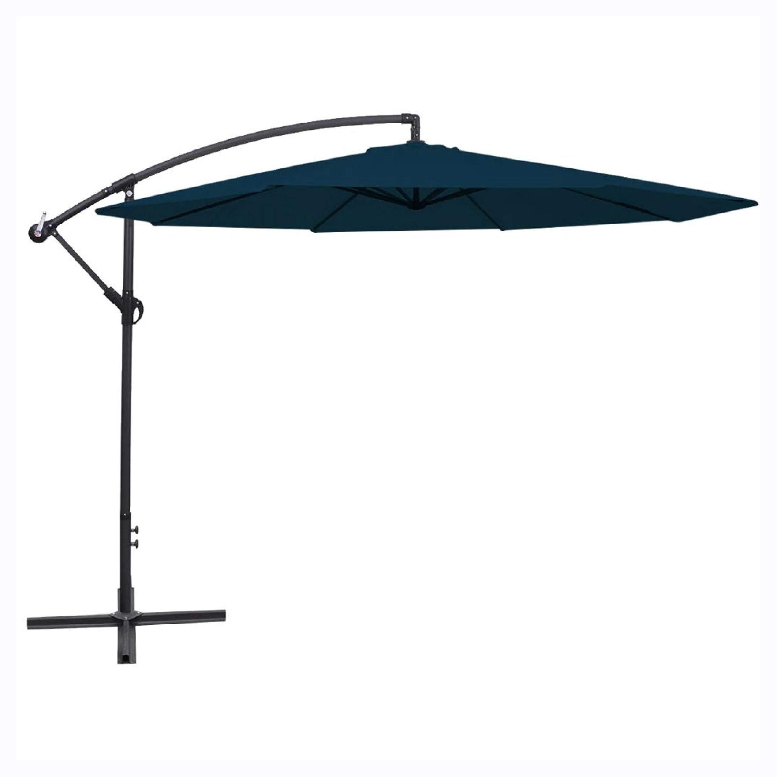 Outdoor Umbrellas & Sunshades, Cantilever Umbrella 137.8'' Blue by K&A Company