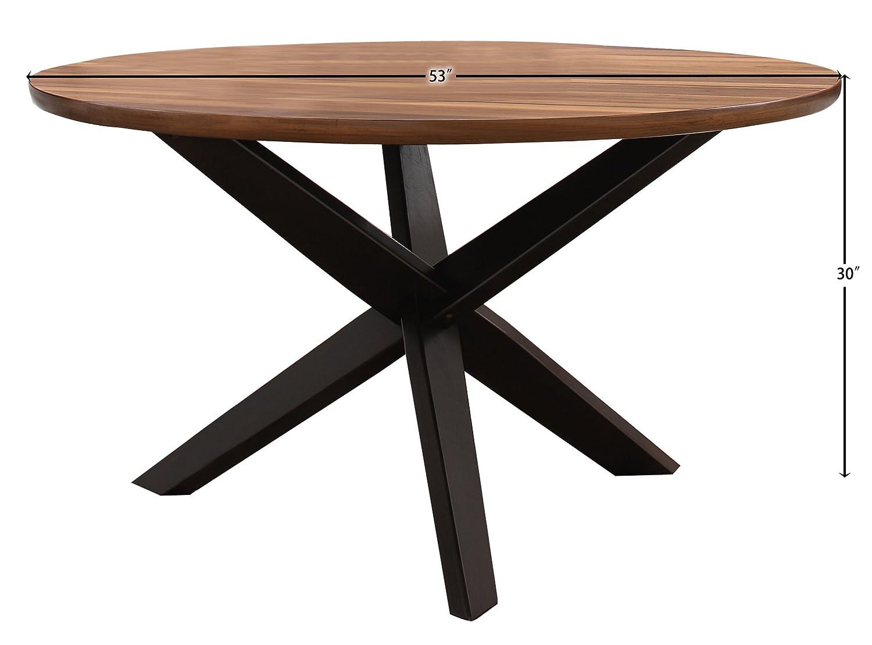 Homelegance Nelina 53 Round Dining Table, Walnut Espresso