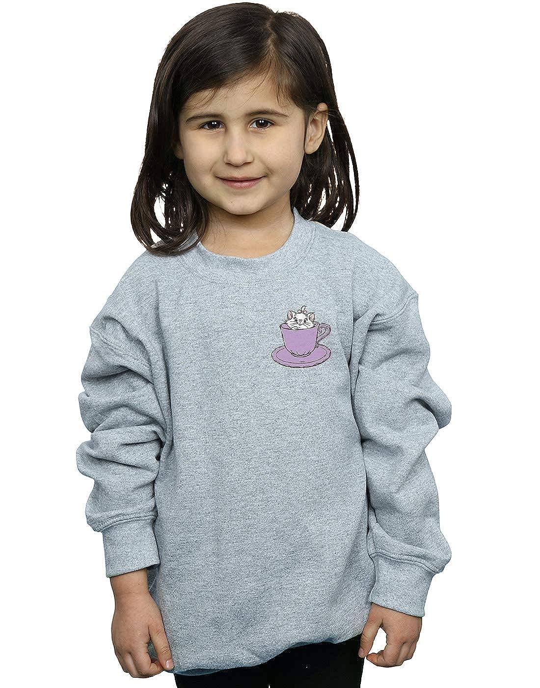 Disney Girls Aristocats Marie in Cup Breast Print Sweatshirt