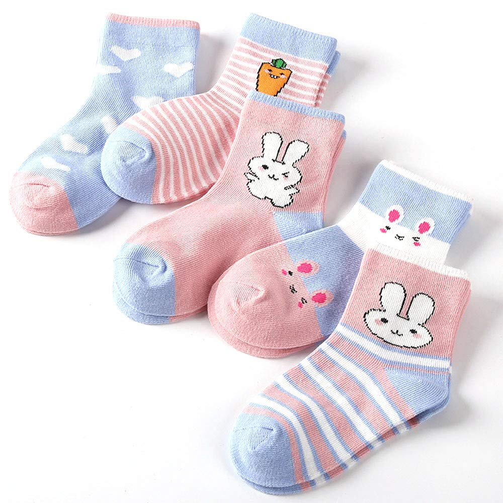 Assorted colors baby socks cute pattern comfy soft combed Cotton unisex baby 5 pairs pack socks