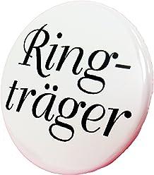 Ringträger Button - Anstecker edel Hochzeit Trauung Wedding Trauzeuge 3,8 cm