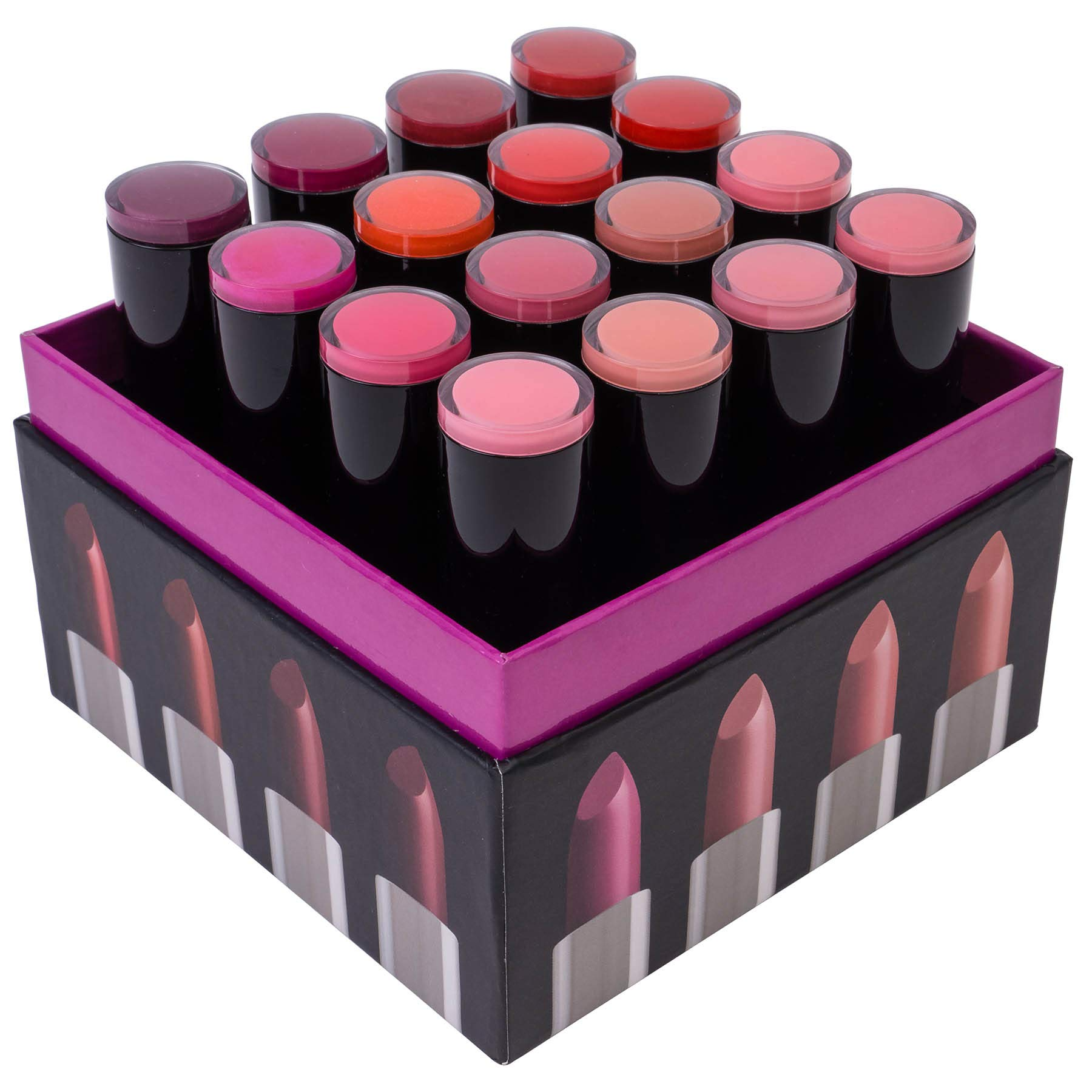 SHANY (Not So) Sweet Sixteen Creme Lipstick Set - Smooth, Highly Pigmented Lip Shades for All Day Wear - 16 Varying Colors by SHANY Cosmetics