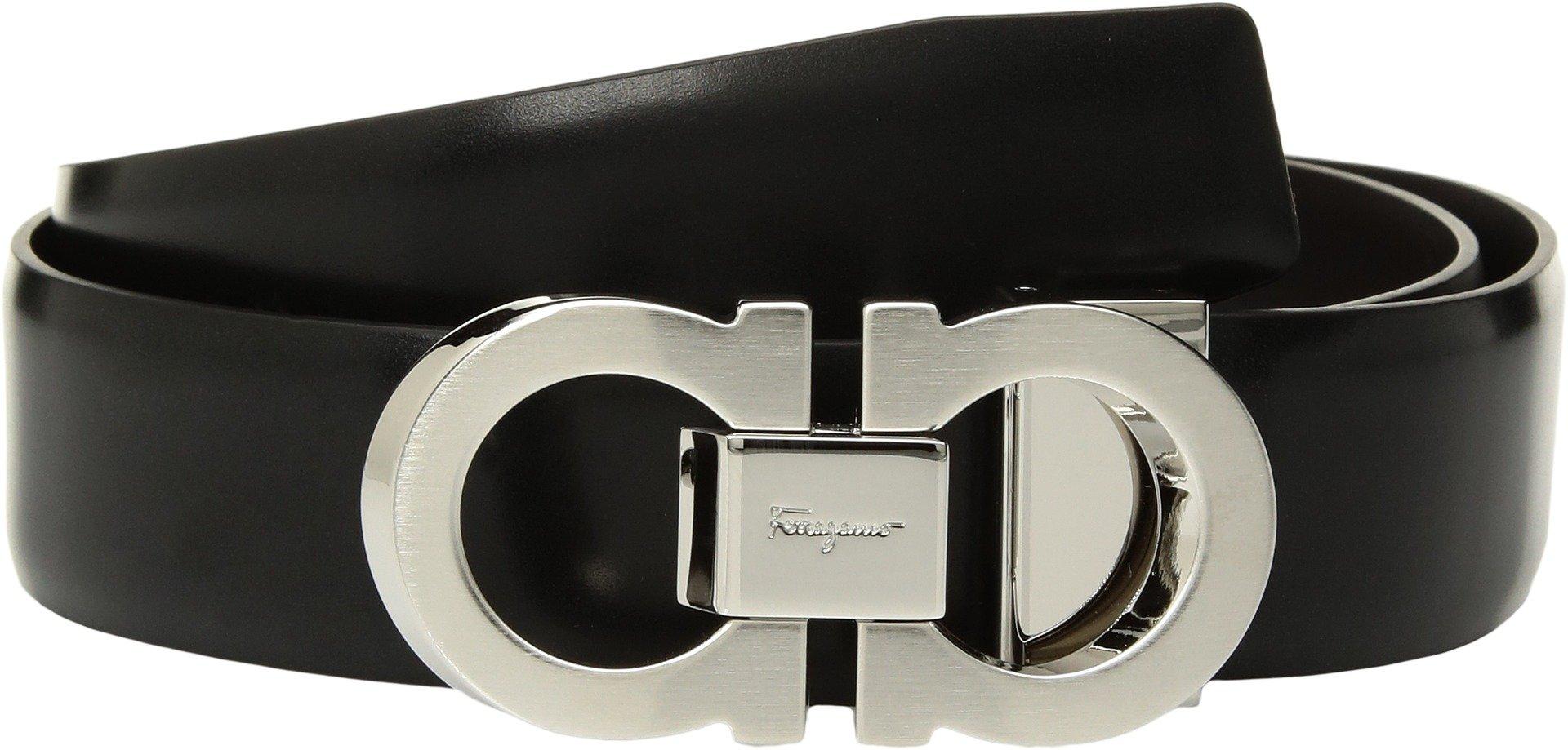 Salvatore Ferragamo  Men's Double Adjustable Belt - 679877 Nero 34