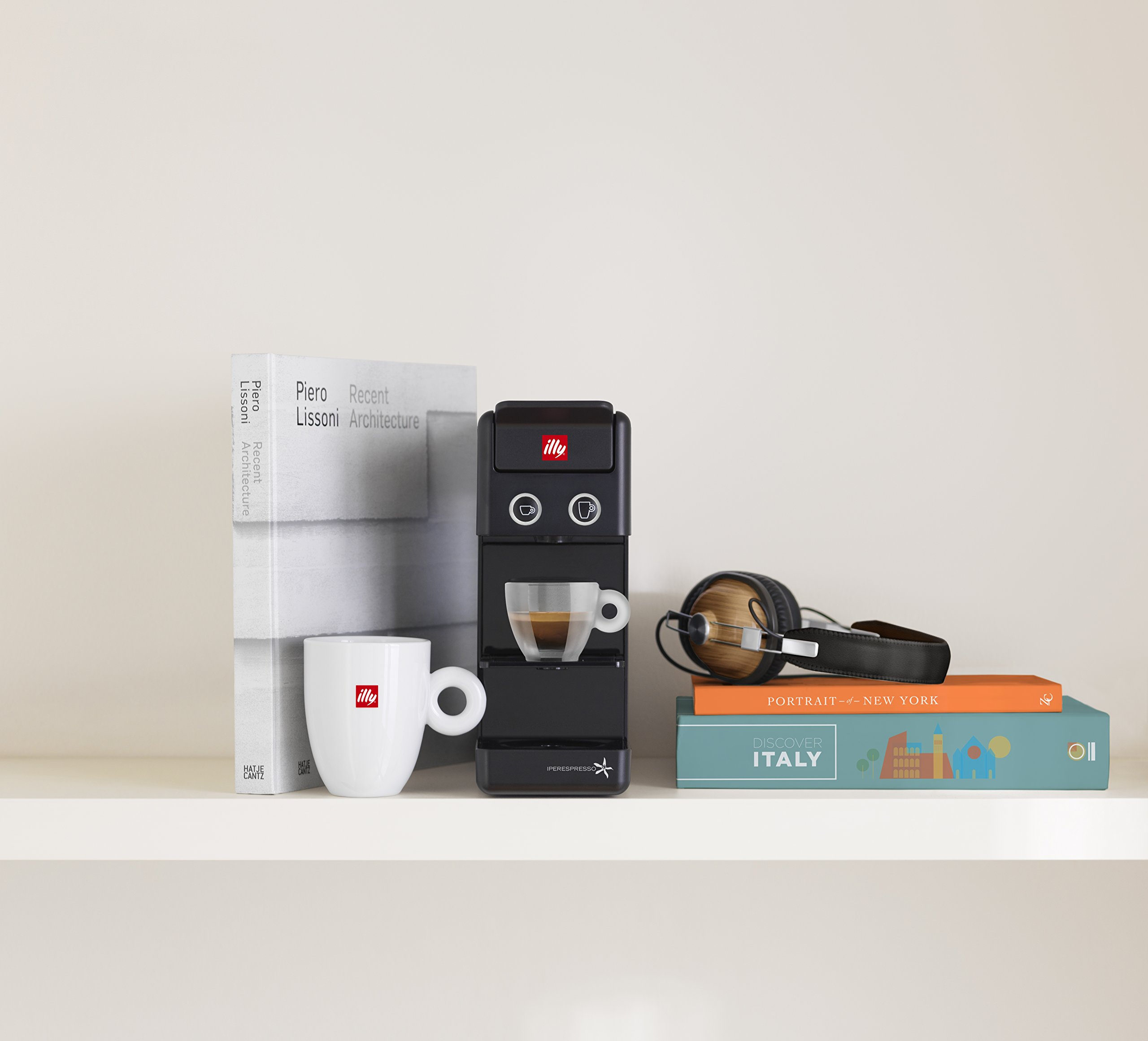 Illy 60296 y3.2 Espresso and Coffee Machine, 12.20x3.9x10.40, Black by Illy