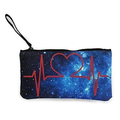 Amazon.com: Estuche para enfermera y corazón EKG, monedero ...