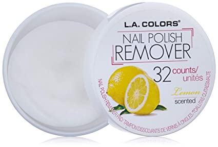 Amazon.com: L.A. Colors Nail Polish Remover Pads, Lemon Scent, 1 Ounce: Beauty