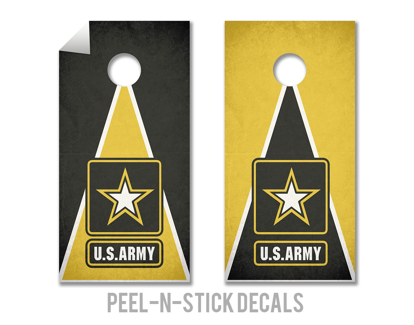Army - Military Service - Cornhole Crew - ACA Regulation Size Cornhole Board Decals