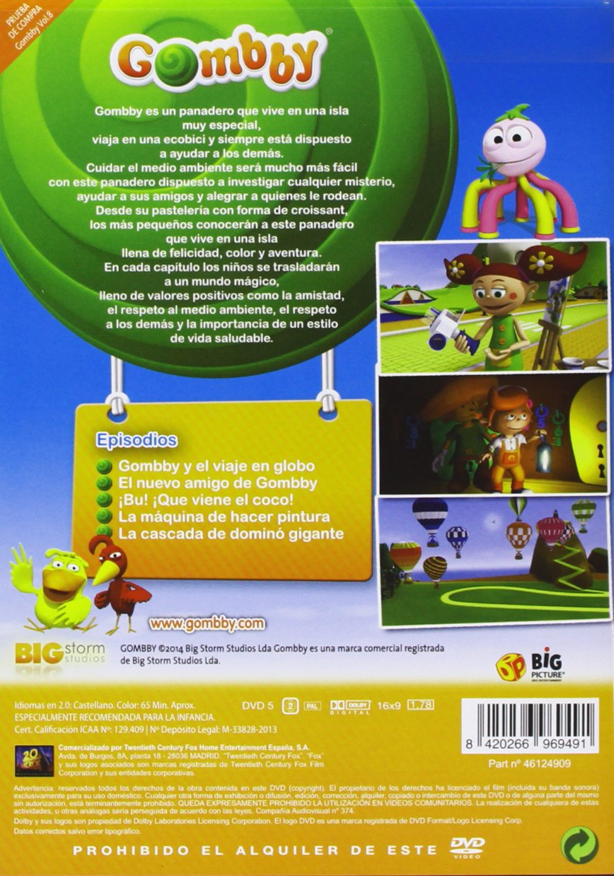 Gombby - Volumen 8 [DVD]: Amazon.es: André Quito, Hugo Rosado ...
