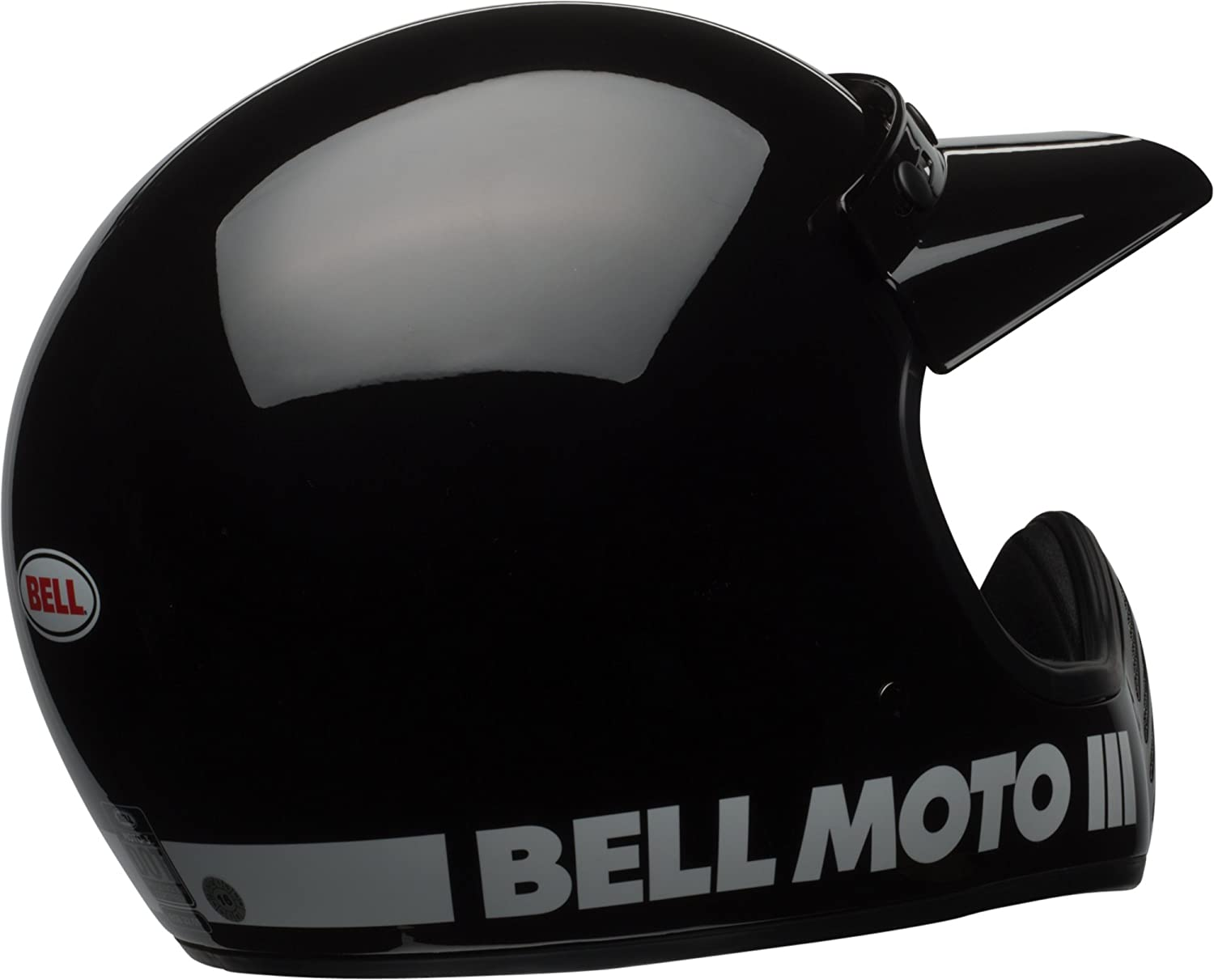 Amazon.com: Bell Moto-3 Off-Road Motorcycle Helmet (Classic Gloss Black , X-Small): Automotive