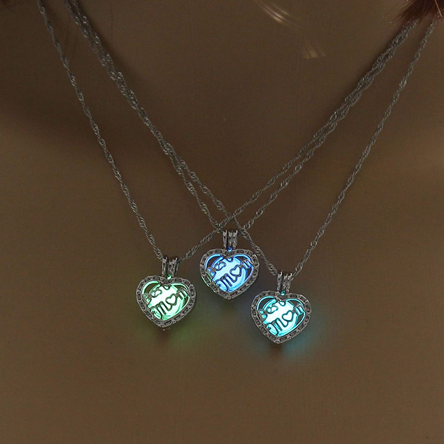 The Needed Necklace Luminous Mom Heart Necklace