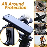 CYCWAY(TM) Adjustable Compact Cycling Cellphone Holders Stem Cap Mount With Aluminium Alloy Material Bike Mount for Smart Phones, GPS, Video Recorder.. (Black) (Black Cap)