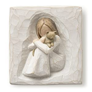 Willow Tree hand-painted sculpted Plaque, Comfort