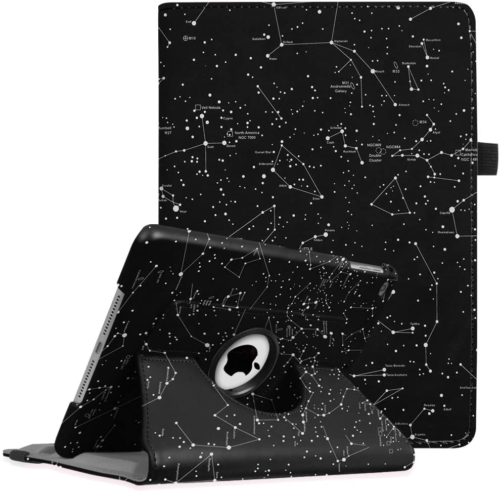 Fintie Case for iPad 9.7 2018 2017 / iPad Air 2 / iPad Air - 360 Degree Rotating Stand Protective Cover with Auto Sleep Wake for iPad 9.7 inch (6th Gen, 5th Gen) / iPad Air, Constellation