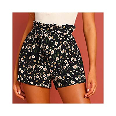 2019 Summer Casual Shorts Women Trousers Female Camouflage Fashion Flowers Print Straight Short Beach Women Clothing: Ropa y accesorios