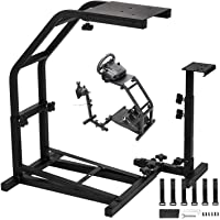 GTR Racing Steering Wheel Stand with V2 Support Game Simulation Driving Bracket Pro Shifter Mount GS Model Gaming For Logitech G25 G27 G29 G920 GT Thrustmaster, Wheel, Shifter & Pedals NOT included