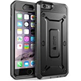 iPhone 6s Plus Case, SUPCASE [Heavy Duty] Belt Clip Holster Apple iPhone 6s Plus Case 5.5 inch [Unicorn Beetle PRO Series] Full-body Hybrid Protective Cover with Screen Protector (Black/Black)