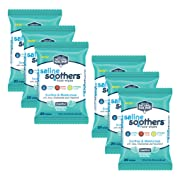 Saline Soothers Moisturizing Tissue for Face, Nose, Hand and Eye Wipes, Boogie Wipe, Allergy Relief, Menthol, 120 Wet Wipes (Pack of 6)