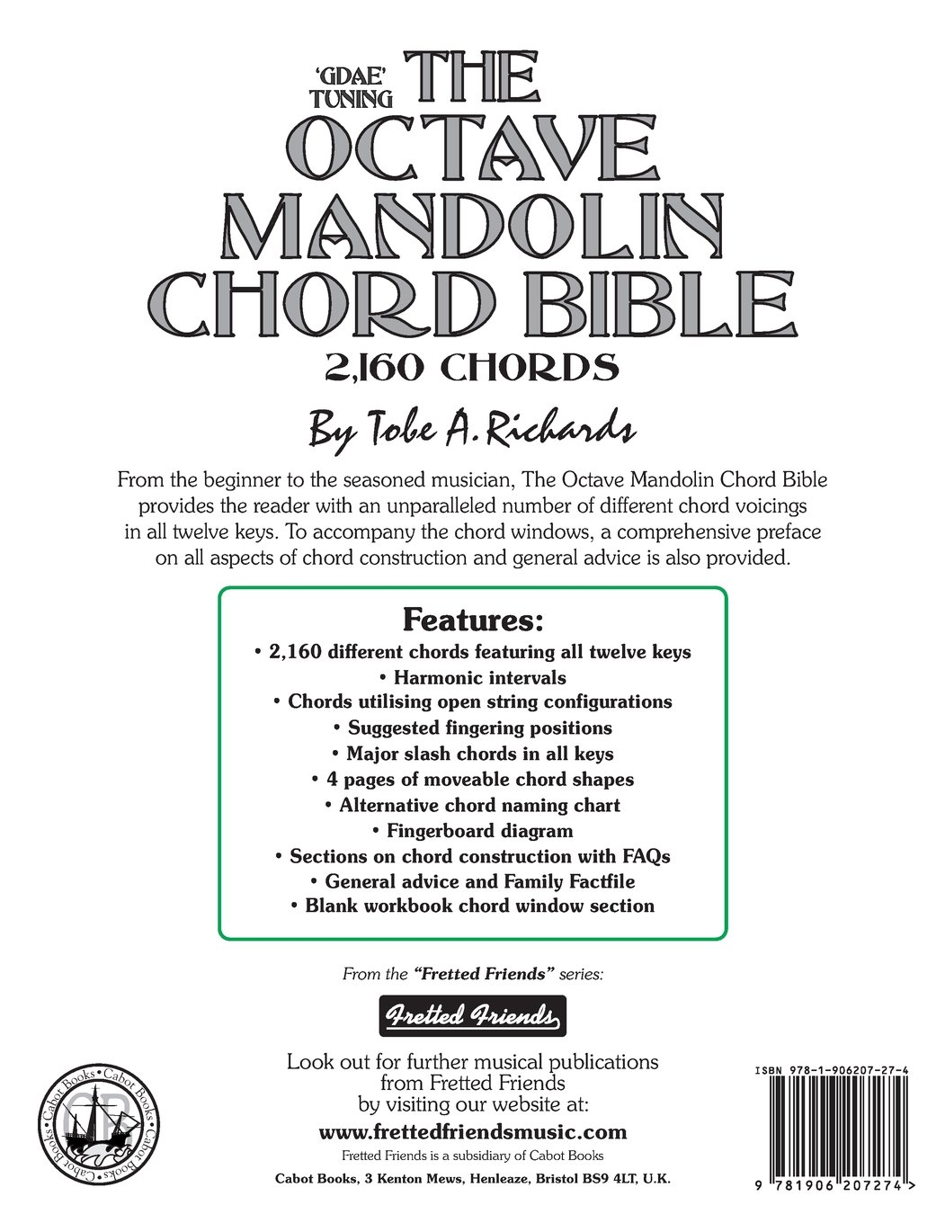 Amazon the octave mandolin chord bible gdae standard tuning amazon the octave mandolin chord bible gdae standard tuning 2160 chords fretted friends 9781906207274 tobe a richards books hexwebz Images