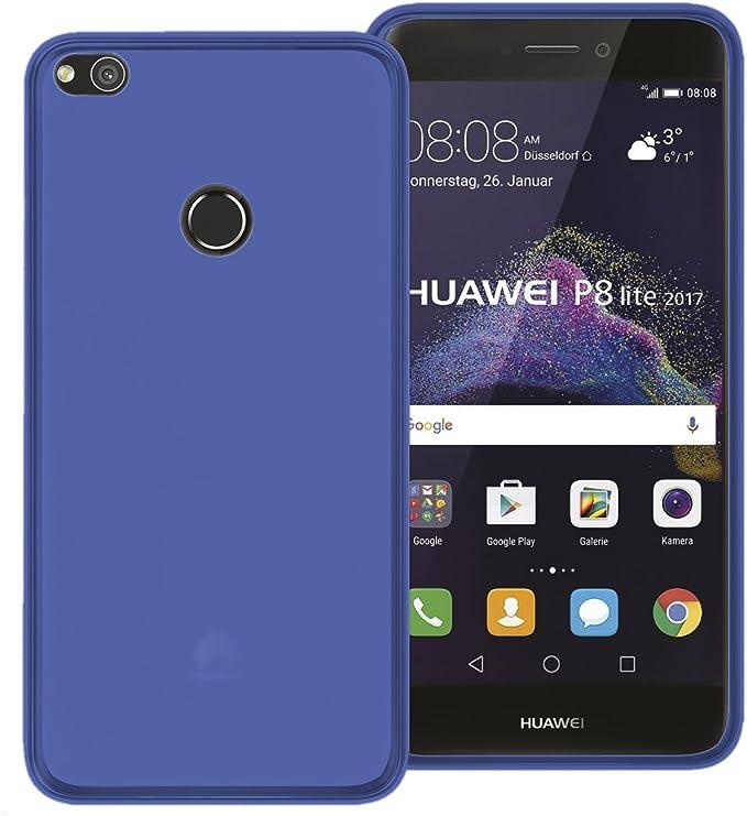 TBOC® Funda de Gel TPU Azul para Huawei P8 Lite (2017) (5.2 ...