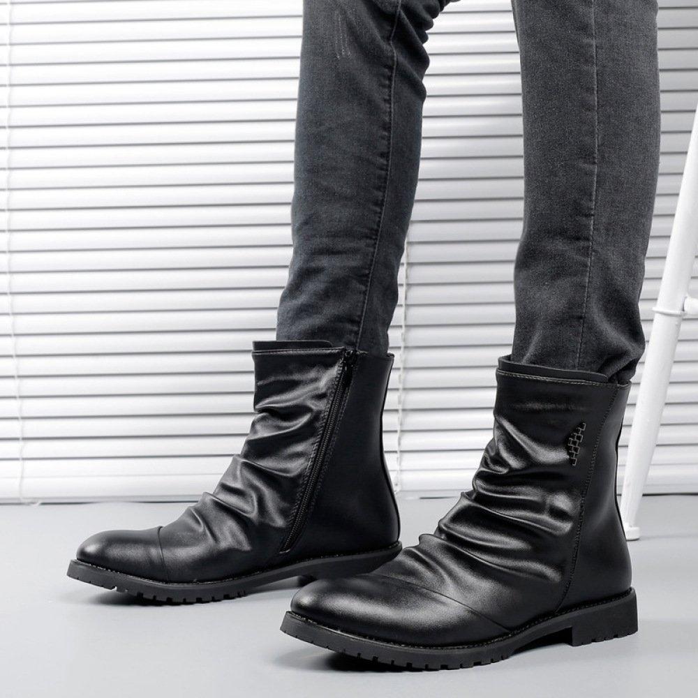 Spring Men Casual Martin Boots Low Top Booties Zapatos De Cuero Vintage Workwear Botas De Hombre