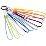 "Enfain 7"" Nylon Lanyards for Usb Flash Drives - Assorted Colors - Pack of 20"