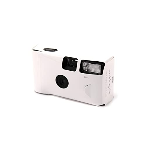 Disposable Cameras White with Flash 10 Pack for Weddings and Parties