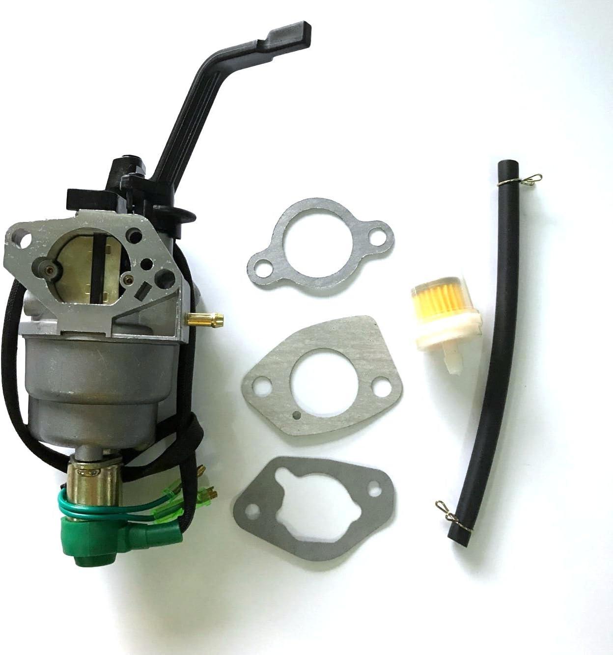 Amazon.com : HQ parts Manual Carburetor & Fuel Filter for GENERAC GP6500  GP6500E GP7500E GP5500 8125W Generator : Garden & Outdoor