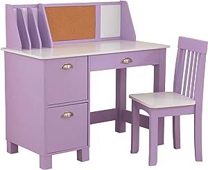KidKraft Study Desk with Chair - Lavender