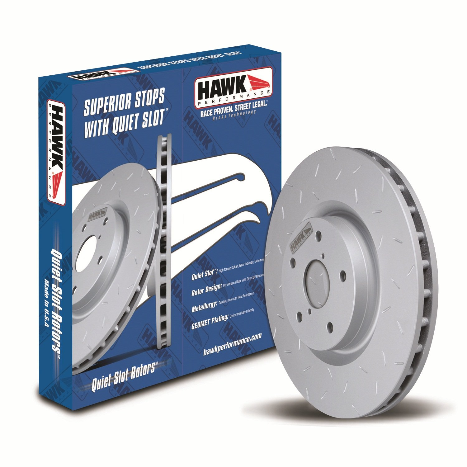 Hawk Performance HUS627 Quiet Slot Brake Rotor