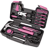 40-Piece All Purpose Household Pink Tool Kit for Girls, Ladies and Women - Includes All Essential Tools for Home, Garage…