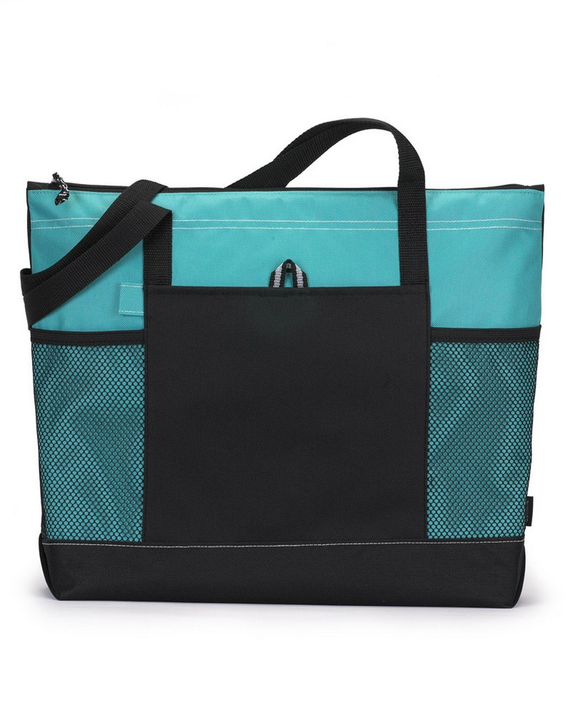 Bodek And Rhodes 80279480 1100 Gemline Select Zippered Tote Turquoise - One by Gemline (Image #1)