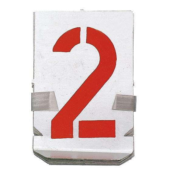 10 Teile Zahlen Zinkblech 150 mm Schrifthöhe Signierschablonen