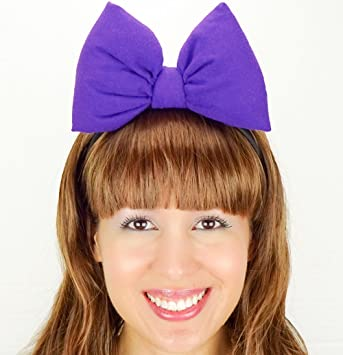 Purple Daisy Duck Bow Headband Minnie Mouse Inspired Handmade Hair Accessory By Sweet In The City