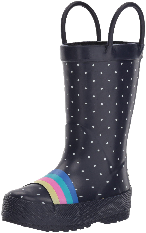 OshKosh B'Gosh Girl's Rainbow Rubber Rainboot Rain Boot, Multi Color, 8 M US Toddler