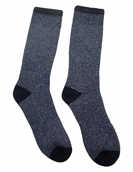 b3f52b130e0 Amazon.com  Duray Grey Blend High Tech Thermal Wool Socks - Mens ...