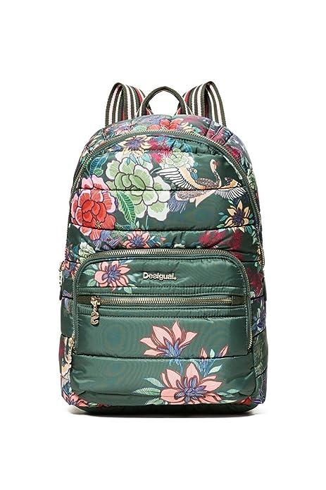 Desigual - Bolso mochila para mujer, color Verde, talla One Size: Amazon.es: Zapatos y complementos