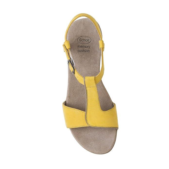 Scholl 37 EU Scarpe Donna Sandali Nashira in Pelle Giallo F26645-1067-400   Buy Online at Low Prices in India - Amazon.in 9de34f3eaa4